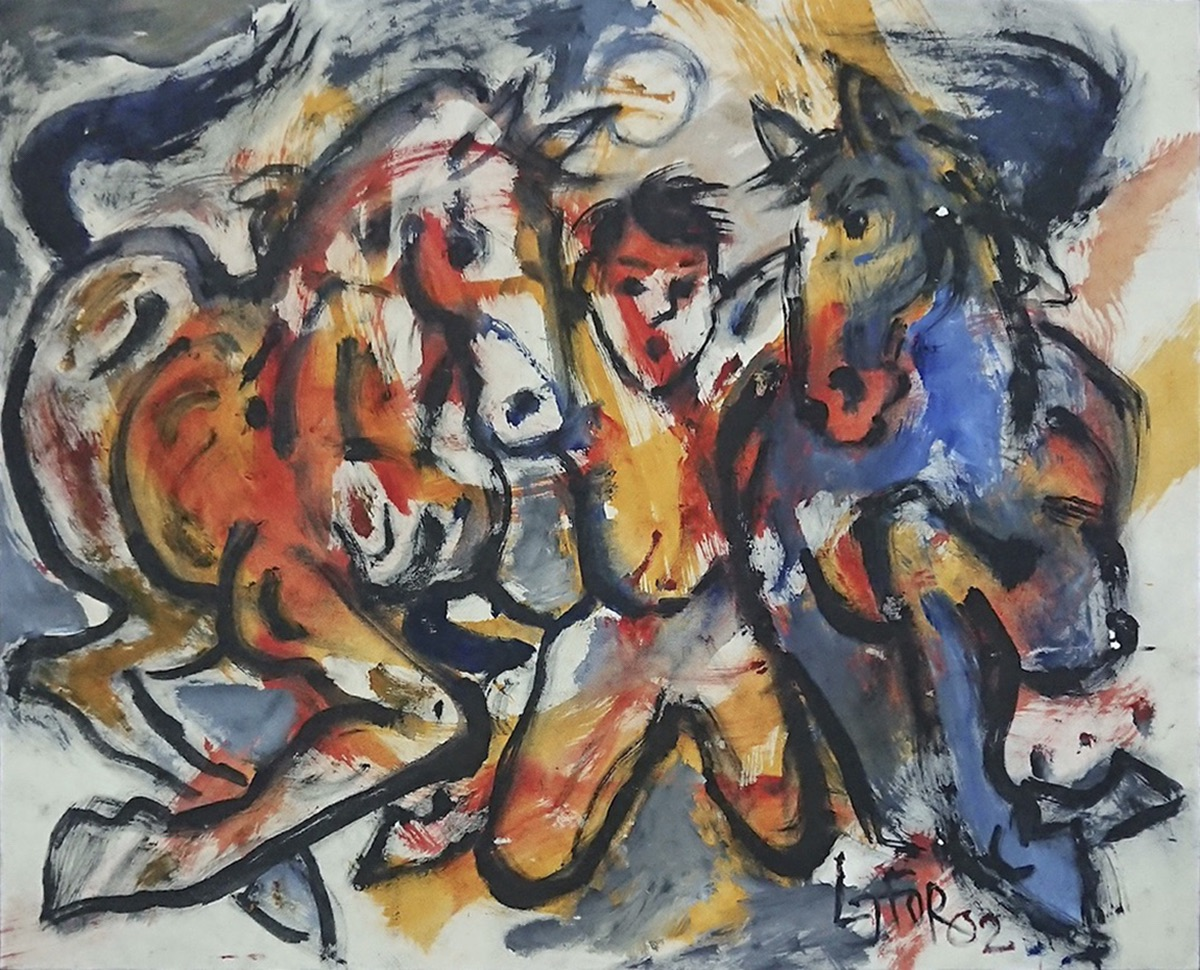 Man Between Horses by Lee Joo For