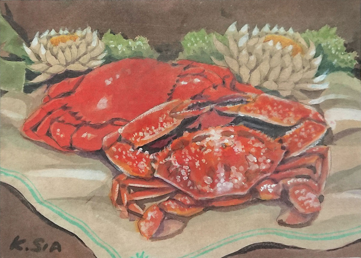 Two Varieties of Crabs by Khaw Sia