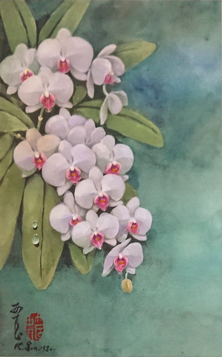 White Vanda Orchids by Khaw Sia