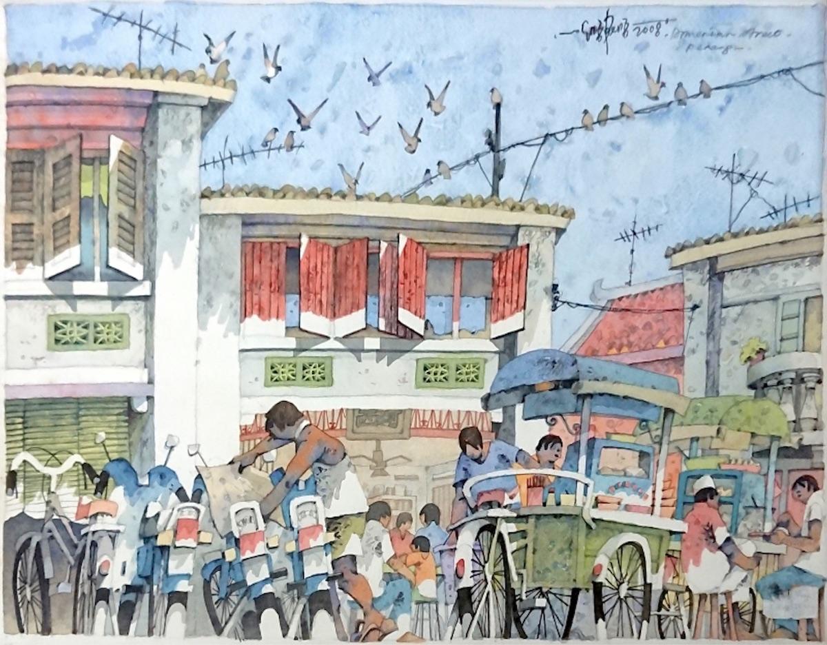 Armenian Street Penang by Lee Eng Beng