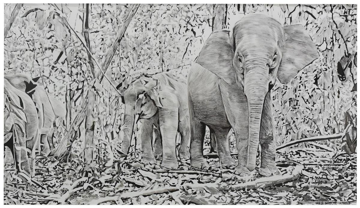 Keluarga Gajah, 2017 by Nasir Nadzir