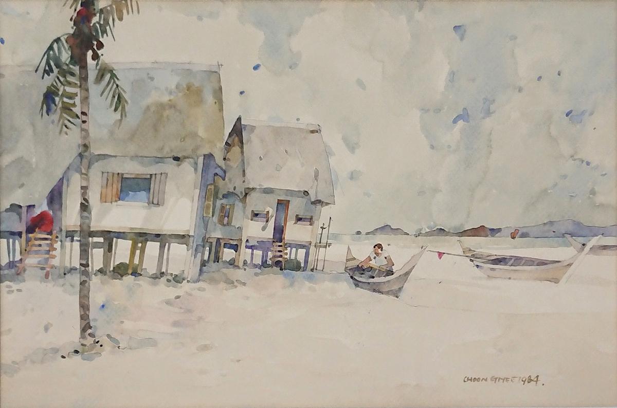 Fishing Village by Tan Choon Ghee