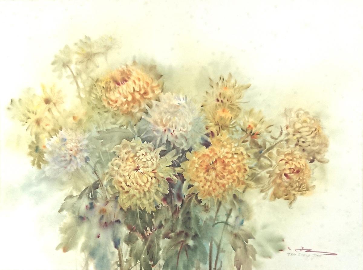 Yellow Chrysanthemums by Teh Siew Joo