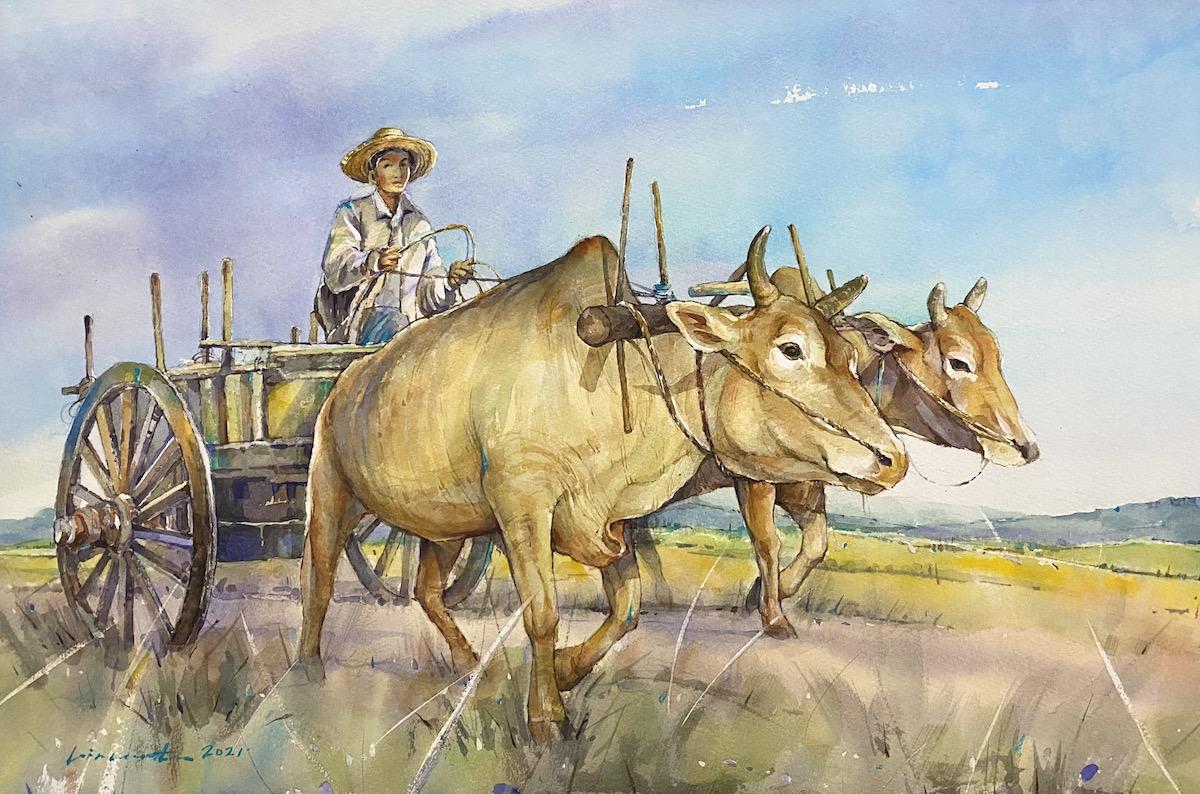 Bullock Cart by Vincent Phang Yoong Sheng