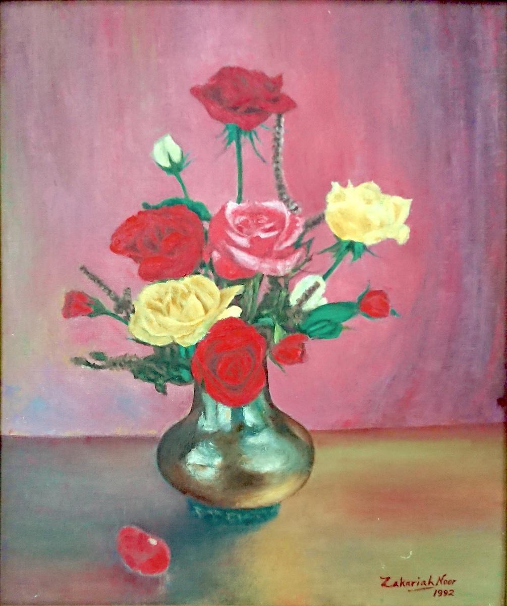 Still Life with Roses, 1992 by Zakariah Noor