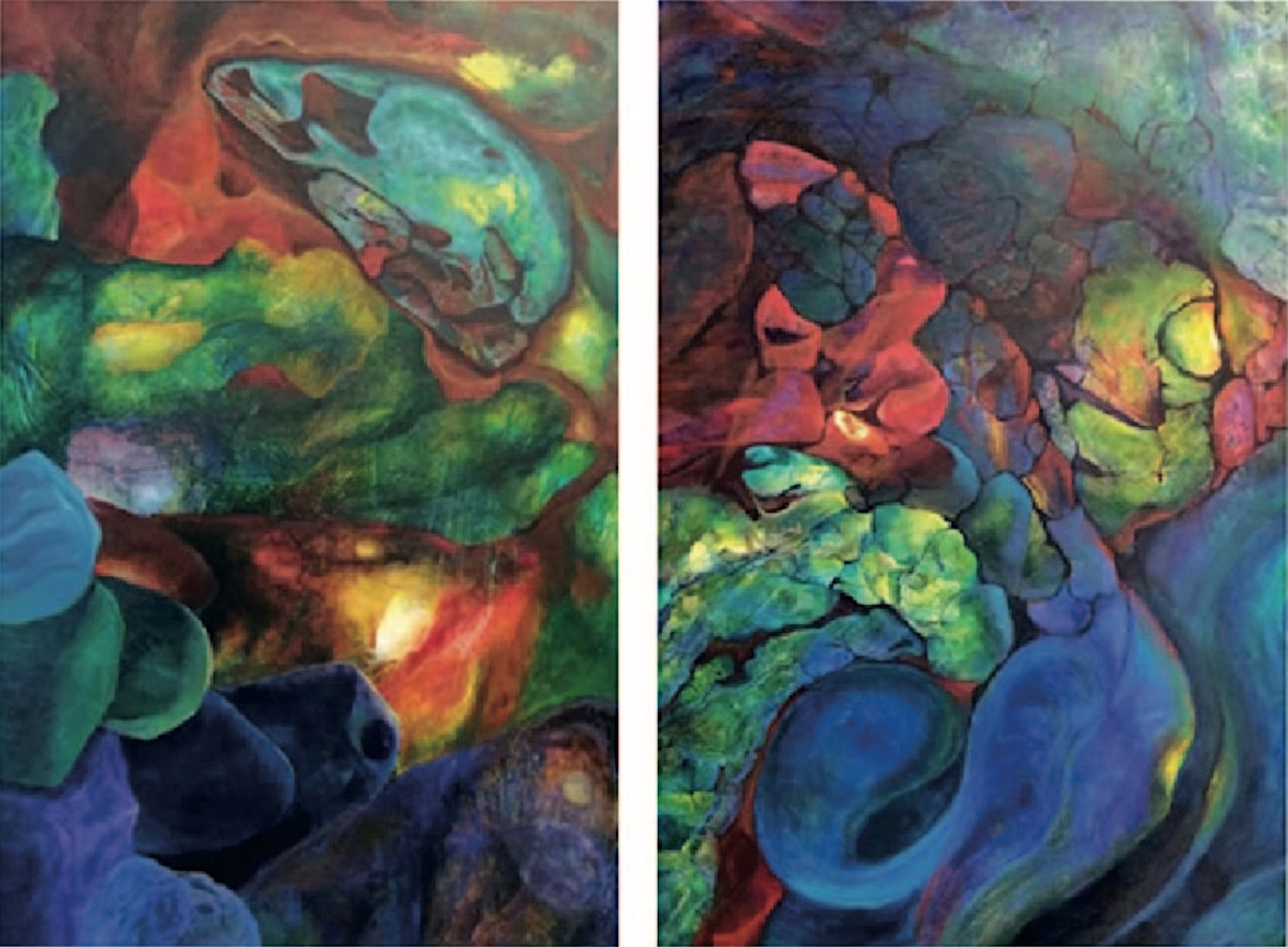 The Echos of Creation I Diptych, 2019 by Teoh Siew Khim